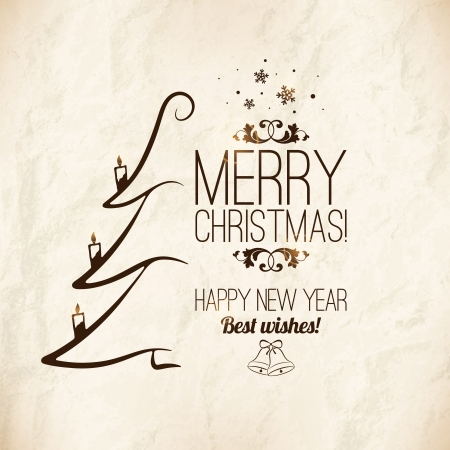 Christmas and New Year  Vector greeting card Stock Vector - 23471958