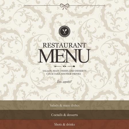 beverage menu: Restaurant menu design