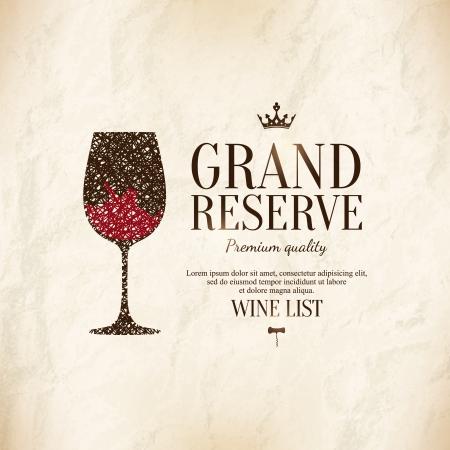 Wine list design Vector