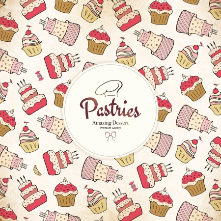 pastry: Menu for restaurant, cafe, bar, coffee house