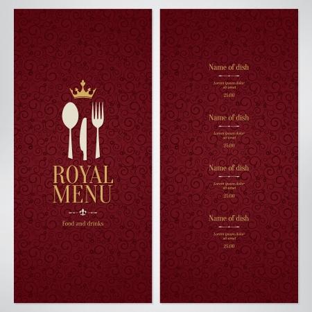 Diseño del menú del restaurante Foto de archivo - 25279728