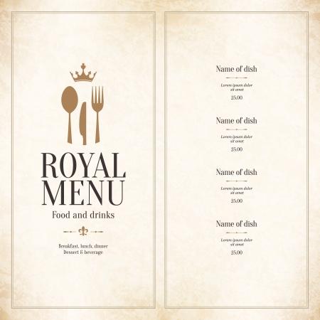 cuchara: Diseño del menú del restaurante