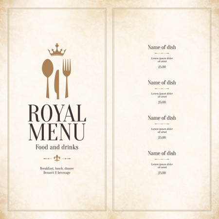 menu bar: Restaurant menu design