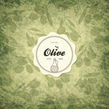 ewer: Olive label design Illustration