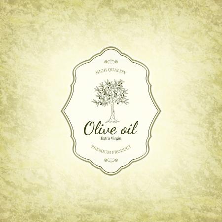 olivo arbol: Dise�o de la etiqueta de Oliva