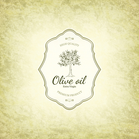olive tree: Olive label design Illustration