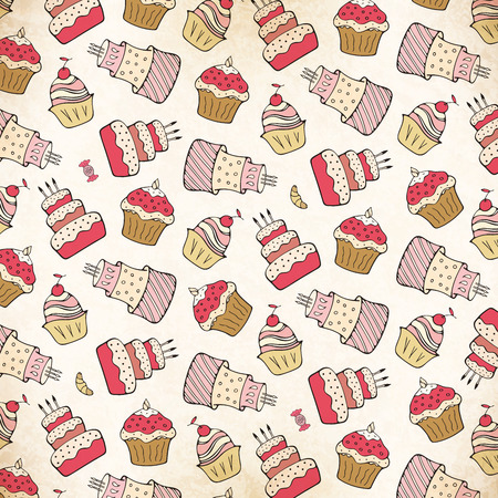 Vintage pastries background photo