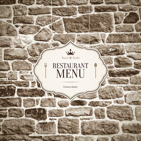 Diseño del menú del restaurante Foto de archivo - 25747498