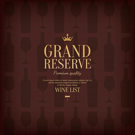 Wine list design Ilustrace