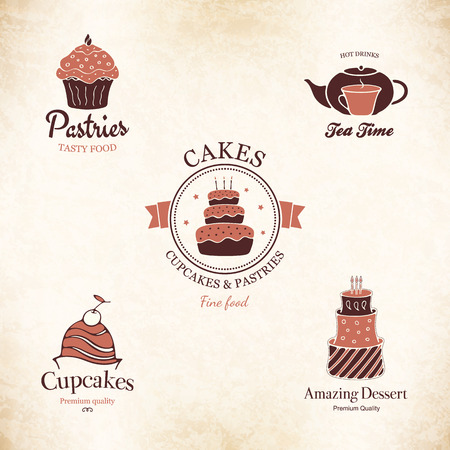 Label set for restaurant, cafe, bar, coffee house Vector