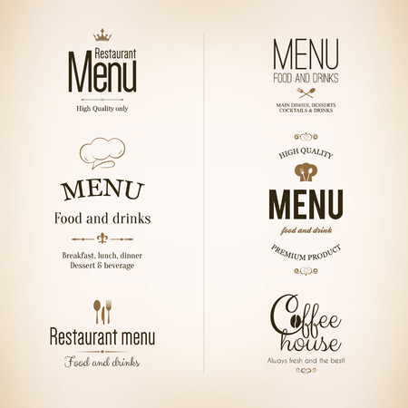coffee house: Label set for restaurant, cafe, bar, coffee house