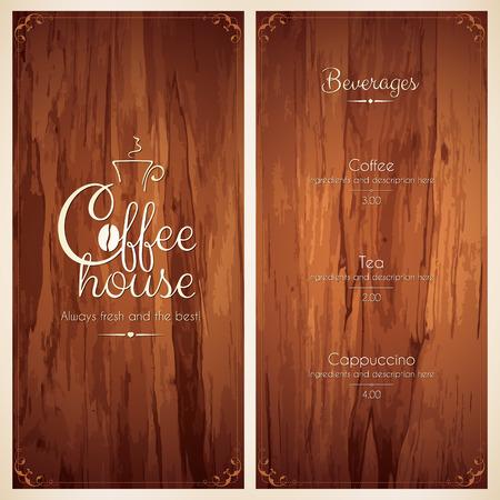 caf�: Menu per il ristorante, caffetteria, bar, caffetteria