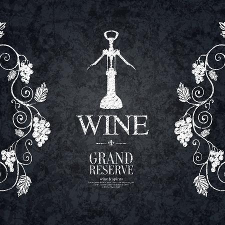 wine list: Wine list design Illustration