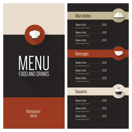 eatery: Restaurant menu  Flat design