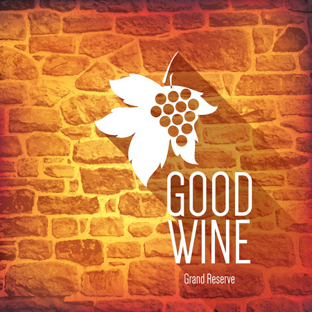 wine background: Wine label design