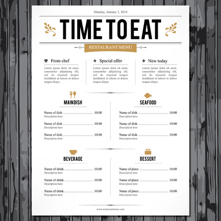Restaurant menu  Flat design