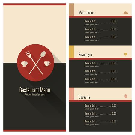 Restaurant menu Flat ontwerp