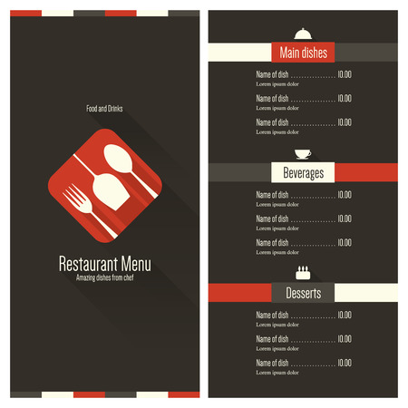 Restaurant menu Flat design