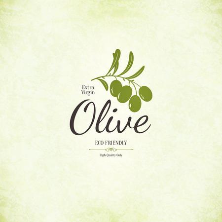 Conception de l'étiquette d'olive Banque d'images - 27332025