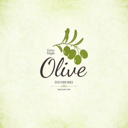 Olive label design Vector