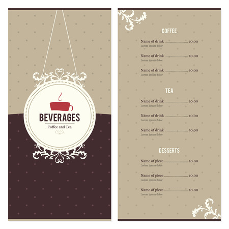 caf�: Restaurant menu Design Vettoriali