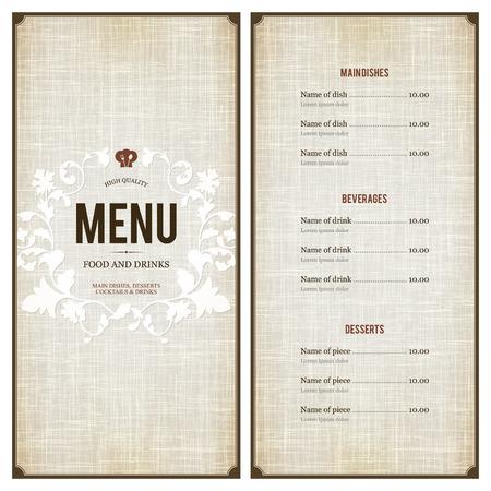 Conception des menus des restaurants Banque d'images - 28344976
