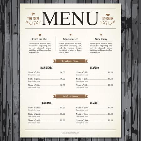 Conception des menus des restaurants Banque d'images - 29138539