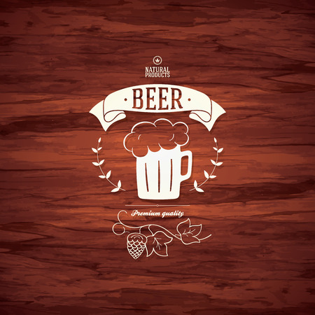 Beer label design for restaurant menu Vector