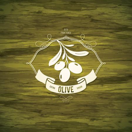 aceite de oliva virgen extra: Dise�o de la etiqueta de Oliva