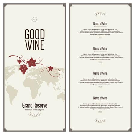 Wine list design 일러스트