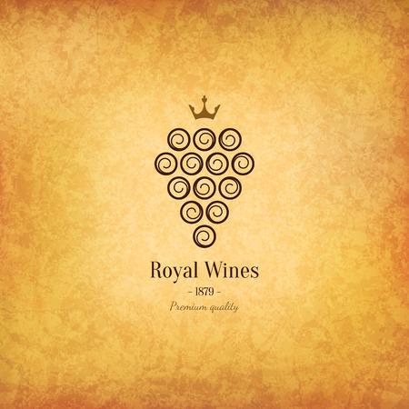 map wine: Wine list design Illustration