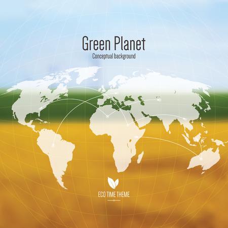 Eco time theme, conceptual background Vector
