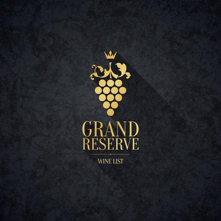 Conception de carte des vins Banque d'images - 29616699