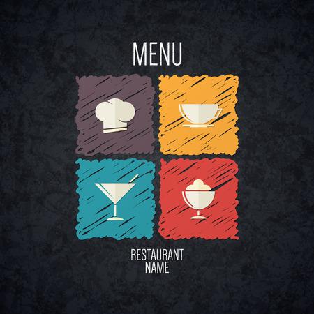 Diseño del menú del restaurante Foto de archivo - 29616714