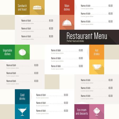 menu bar: Restaurant menu  Flat design