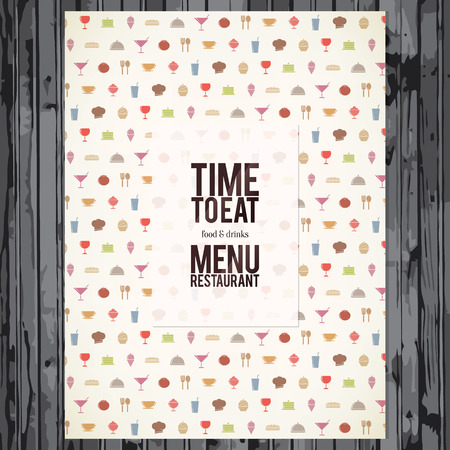 food and beverage: Restaurant menu  Flat design