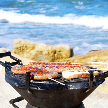 BBQ on the beach photo