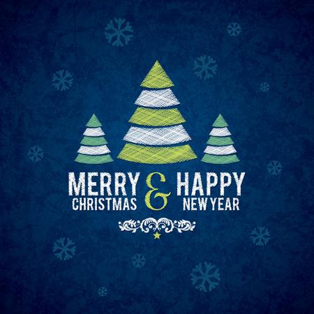 christmas symbol: Christmas and New Year greeting card