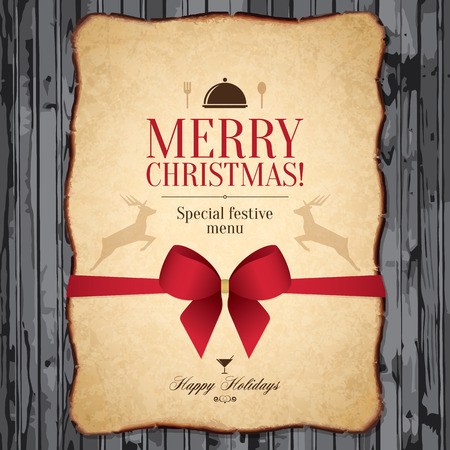 Special Christmas festive menu design Vector