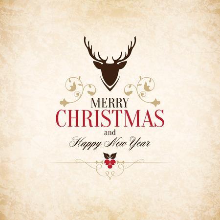 Noël et Nouvel An carte de voeux Banque d'images - 30728053