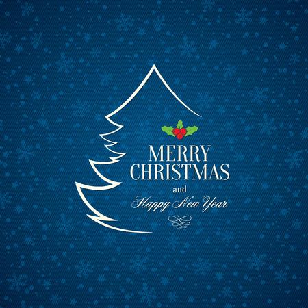 Kerstmis en Nieuwjaar wenskaart Stock Illustratie