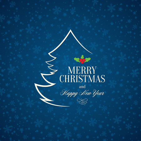 baum symbol: Weihnachten und Silvester Grusskarte Illustration