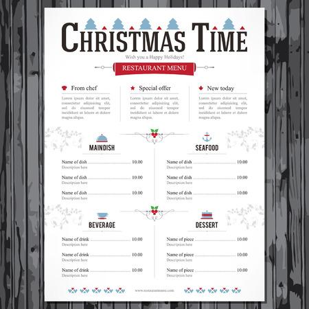 Special Christmas festive menu design Çizim