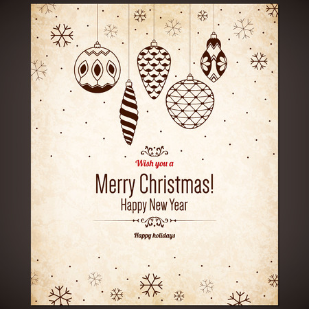 Christmas and New Year greeting card Imagens - 30728065