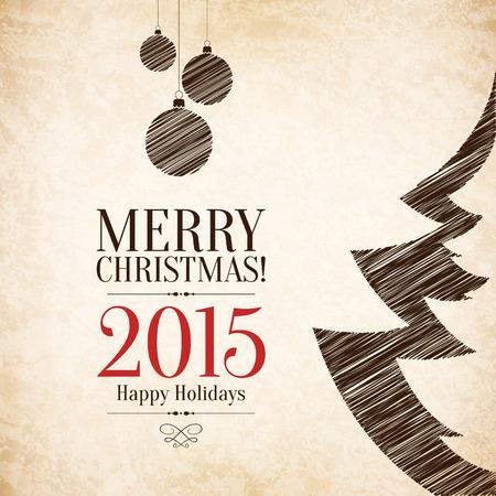 weihnachtskarten: Weihnachten und Silvester Grusskarte Illustration