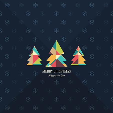 postcard background: Christmas and New Year. greeting card