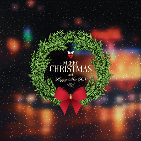 Christmas and New Year. greeting card Vector