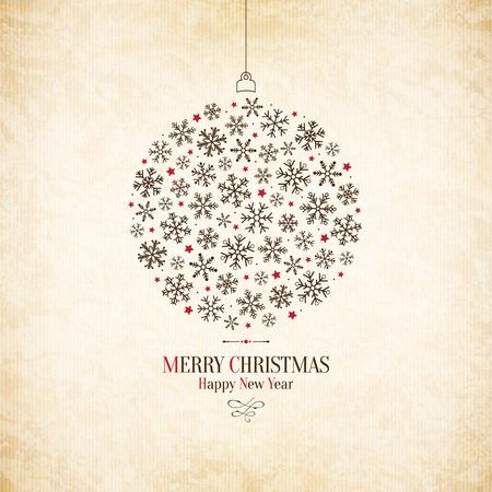 Kerstmis en Nieuwjaar. wenskaart