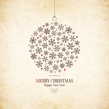 Noël et Nouvel An. carte de v?ux Banque d'images - 31871510
