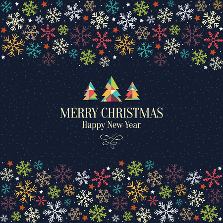 Christmas and New Year. greeting card Imagens - 31871518